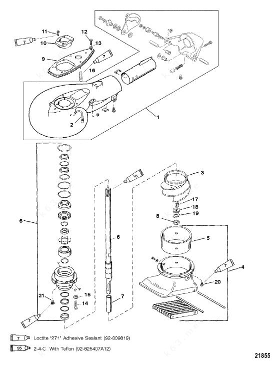 Mercury/Mariner 20 Jet, Jet Pump Assembly S/N 0G157846