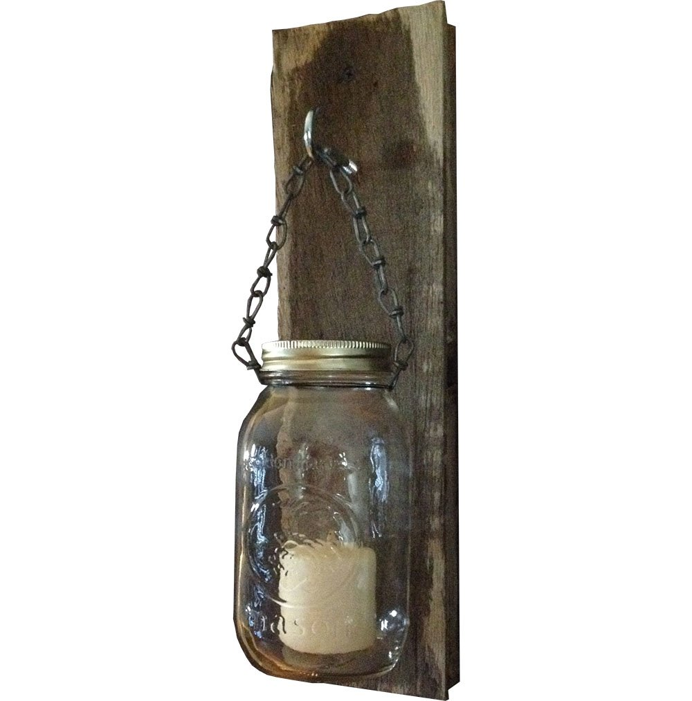 Mason Jar Hanging Candle Holders