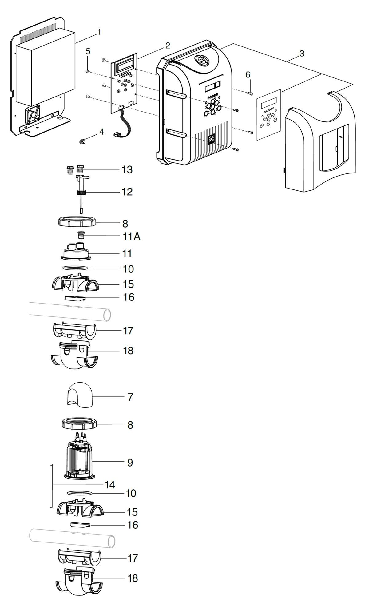 Jandy AquaPure® Ei™ Series Parts