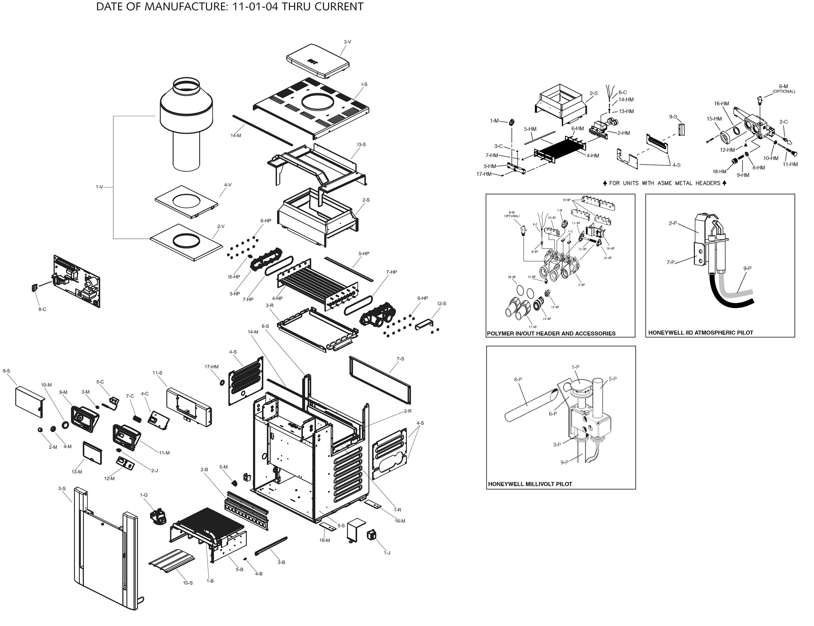 Raypak Model R206a Digital Heater Parts