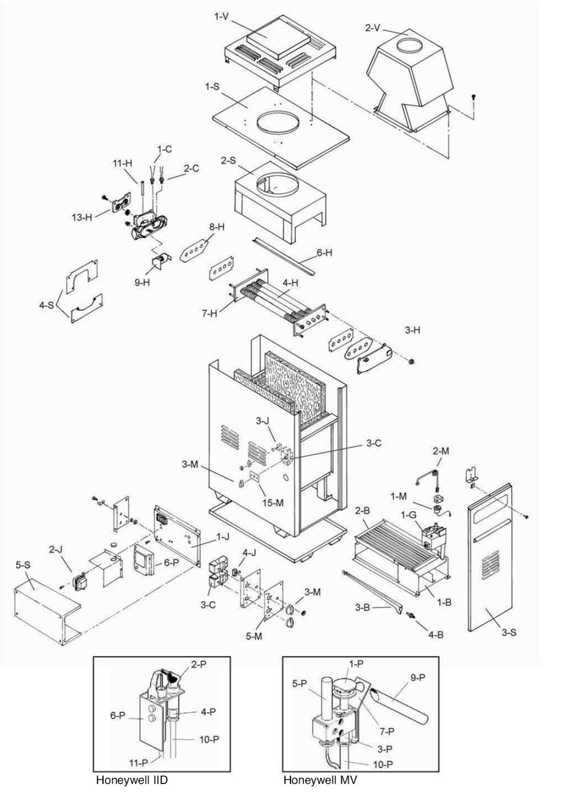 Raypak Model 153 Heater Parts