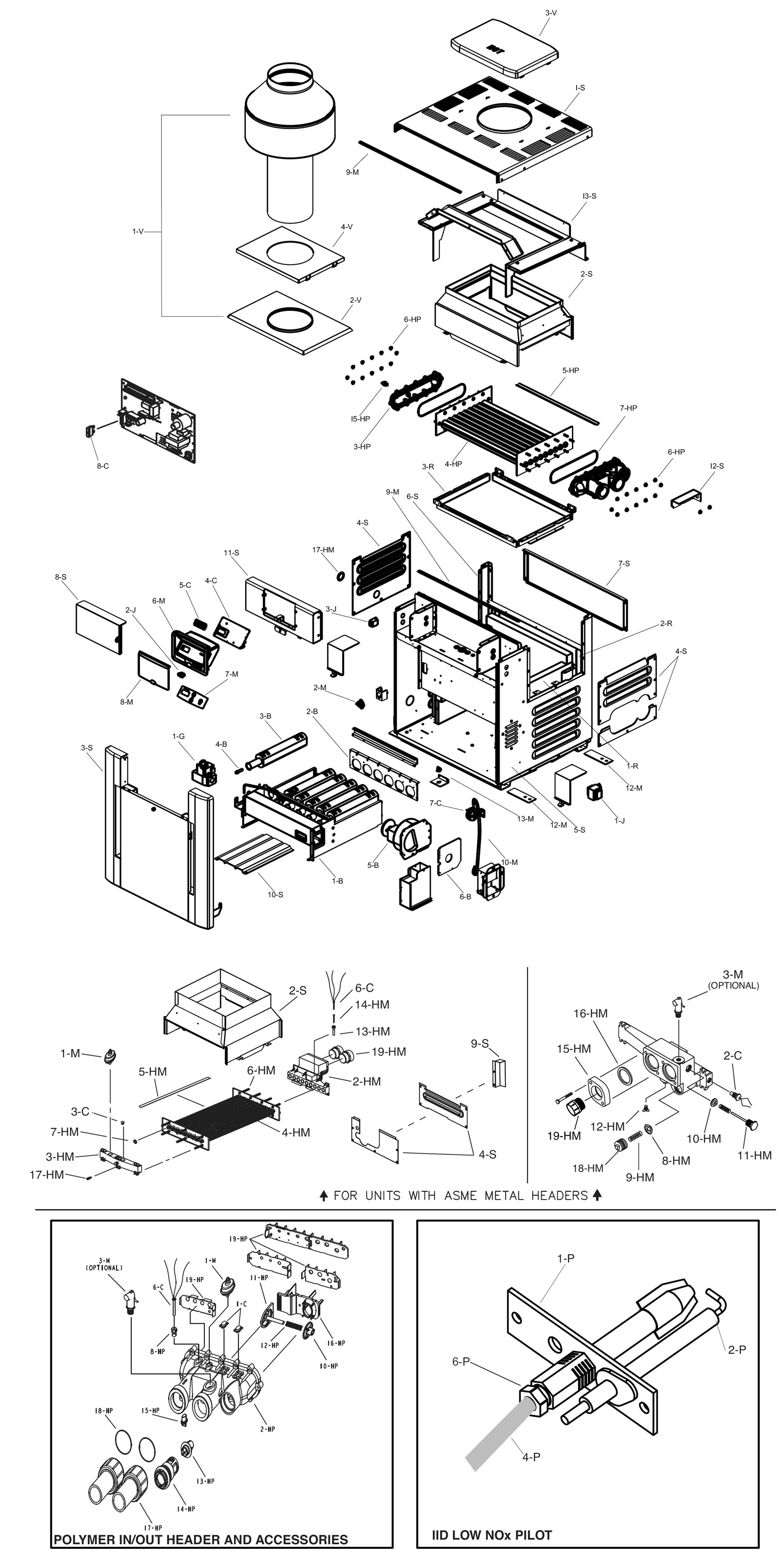 Raypak Model R407A Digital Low NOx Heater Parts