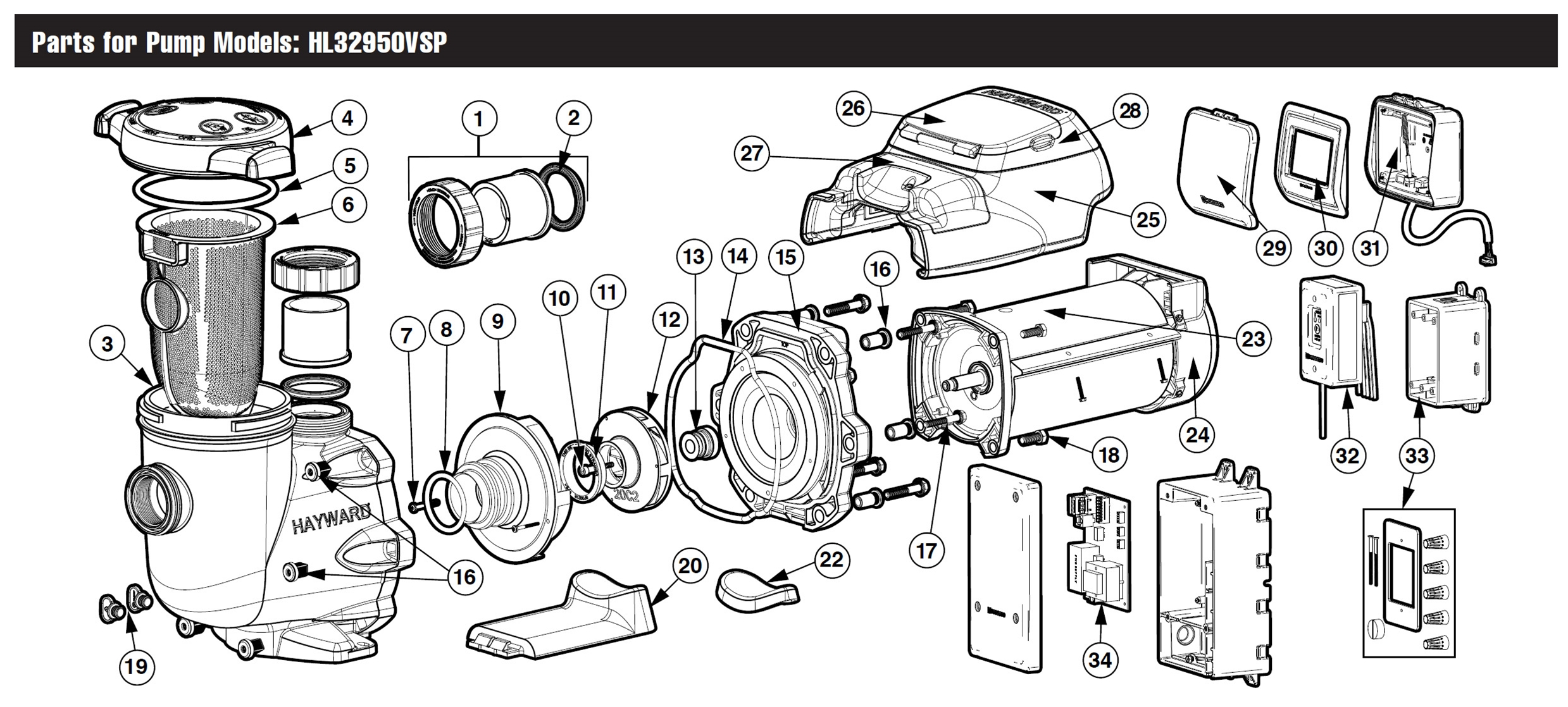 Hayward Tristar Vs 950 Omni Pump Parts