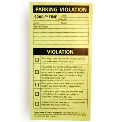 photograph regarding Parking Notes Printable named Printable Parking Ticket - Absolutely free Down load