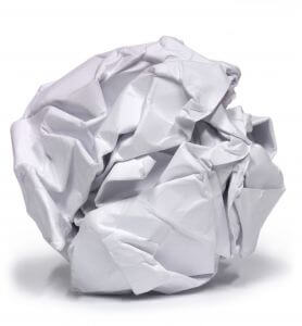 crumpled-up-paper-ball Shocking paper statistics you didn't know about and why it could cost you money