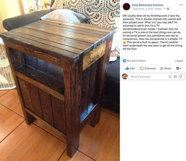 Jacob can build his own furniture
