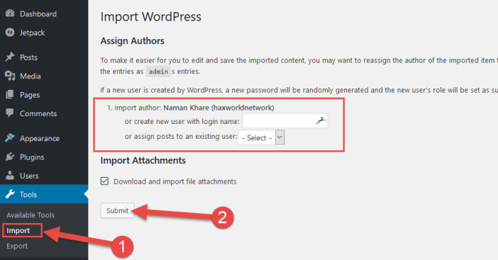 Assign Author name on WordPress.org