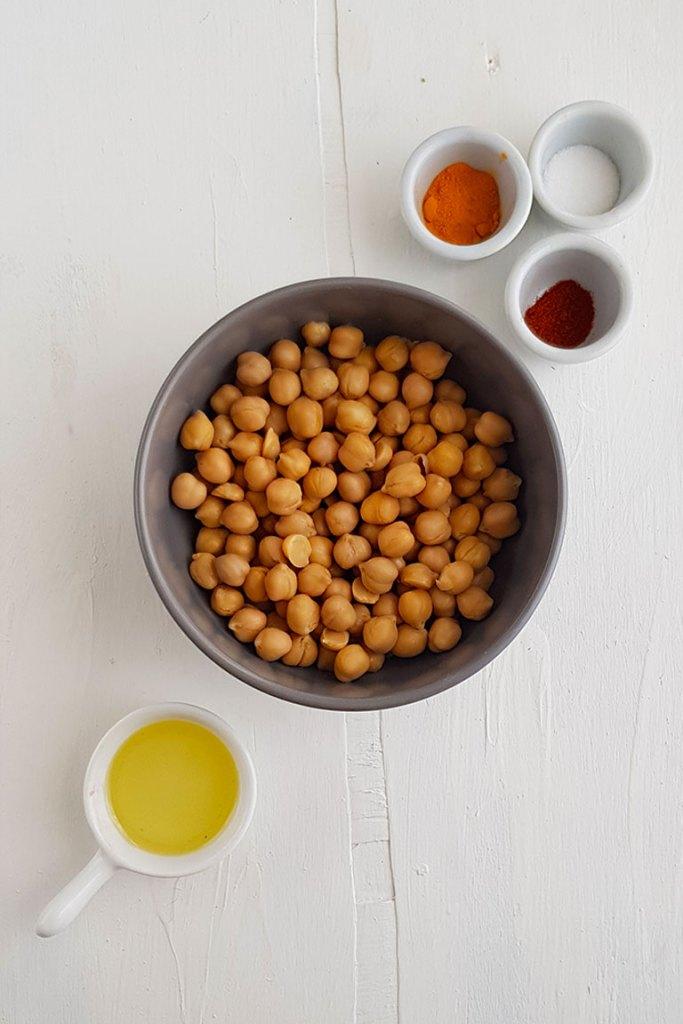 Roasted Turmeric Chickpeas Ingredients