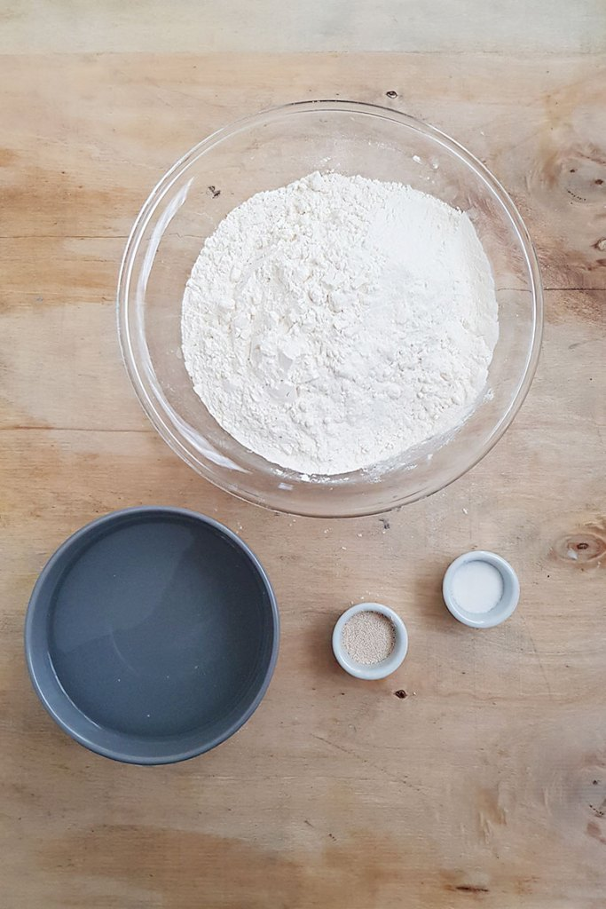Ingredients for No Knead Artisan Bread