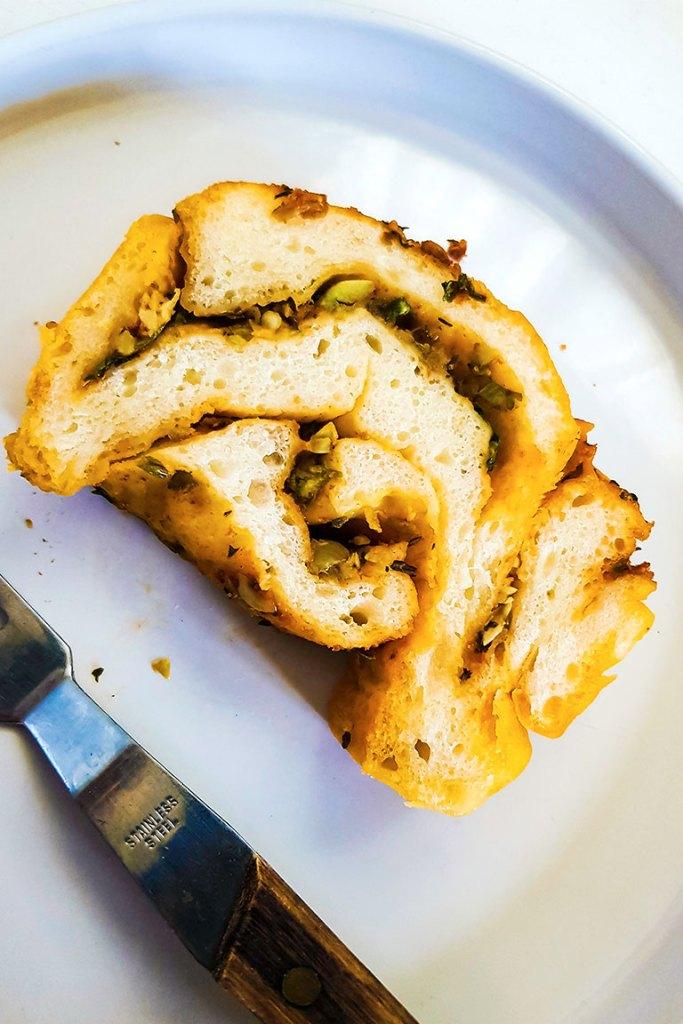 babka slice in a plate