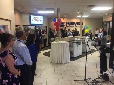sims business systems open house party lunch and learn 2018