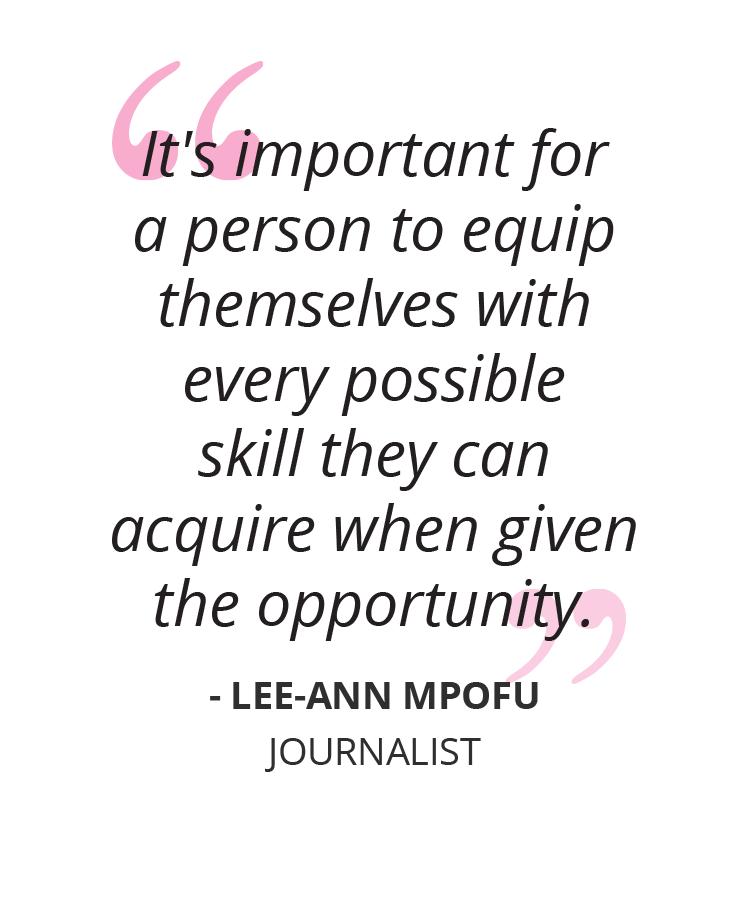 Writing Her Way To Success: Meet Lee-Ann Mpofu