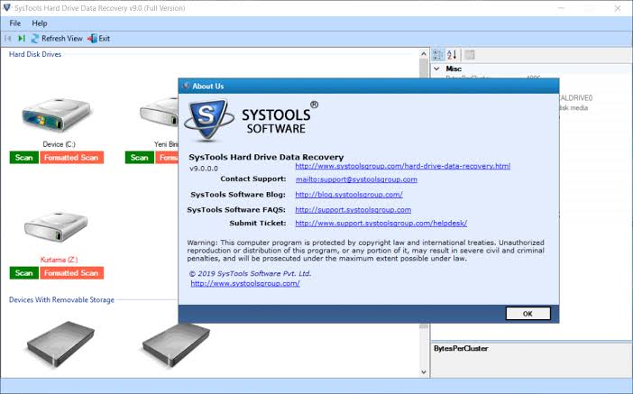 SysTools Hard Drive Data Recovery Crack Serial Key