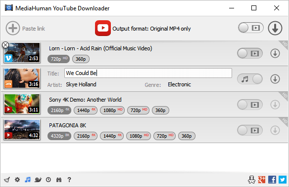 MediaHuman YouTube Downloader Crack Key
