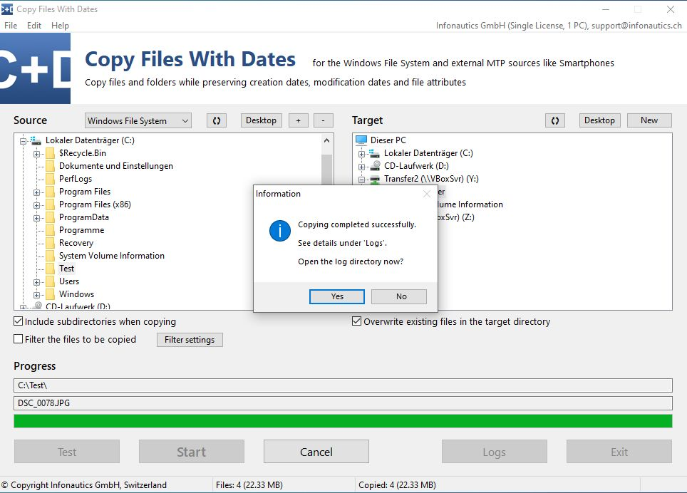 Infonautics Copy Files With Dates Crack Key
