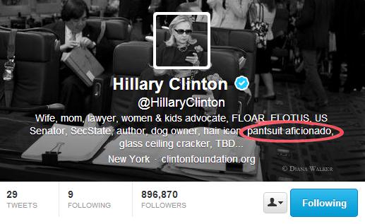 Hillary Clinton - Twitter Bios That Convert Customers