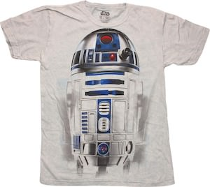 Star Wars t-shirt with R2-D2 the robot on it