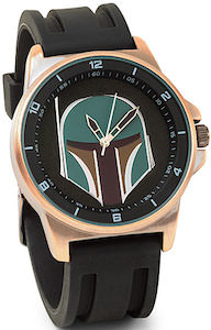 STAR WARS Watch with Boba Fett on the watch face