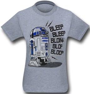 Star Wars speaking R2-D2 t-shirt