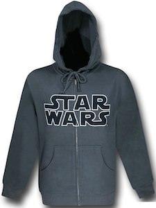 Star Wars grey logo hoodie