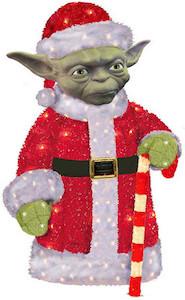 Star Wars Yoda Santa Christmas Law Decoration