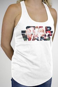 Star Wars Floral Logo Women's Tank Top