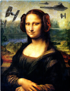 Star Wars Mona Leia Canvas Print