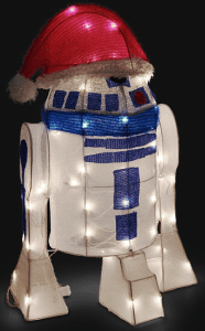 R2-D2 In Santa Hat Lighted Lawn Ornament