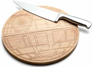 Wooden Star Wars Death Star Cutting Board