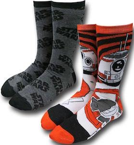 Star Wars Logo And BB-8 Socks