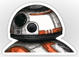 Die Cut BB-8 Vinyl Sticker