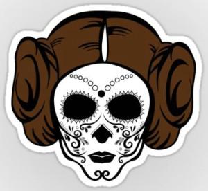 Princess Leia Sugar Skull Vinyl Sticker