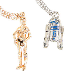 C-3PO And R2-D2 Necklace Set