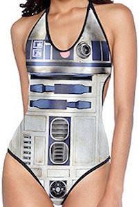 R2-D2 Halter Top One Piece Swimsuit
