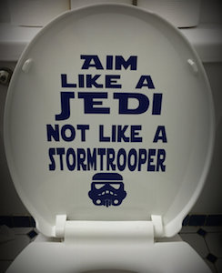 Star Wars Aim Like A Jedi Not Like A Stormtrooper Toilet Decal