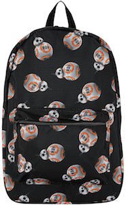 Black BB-8 Backpack With Many Images of BB-8
