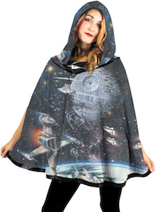 Galaxy Space Battle Hooded Poncho