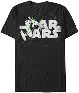 Star Wars Logo Space Battle T-Shirt