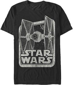 Logo And Tie Fighter T-Shirt