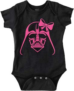 Darth Vader With A Bow Baby Bodysuit
