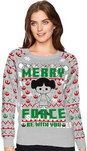 Princess Leia Merry Force Christmas Sweater