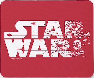 Red Star Wars Logo Mousepad