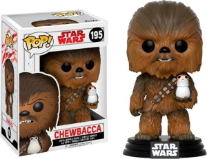Chewbacca And Porg Funko Pop Figurine