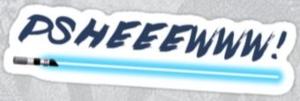 Lightsaber Noise Sticker Decal