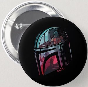 The Mandalorian Helmet Button