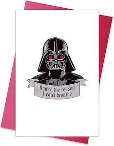Darth Vader Valentine's Day Card