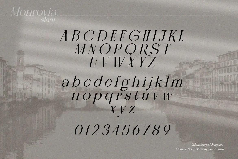 Monrovia – Modern Serif Font