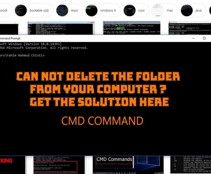 Can not delete the folder from your computer ? Get the solution here