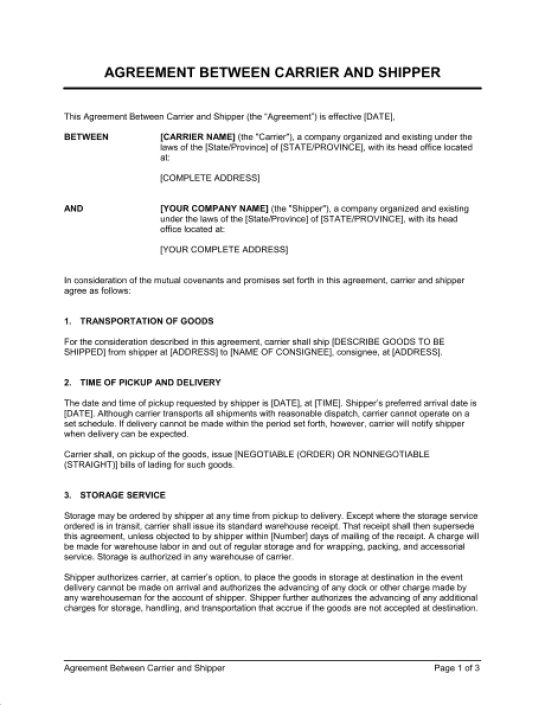 4 Free Contract Between Two Companies Templates - Word ...