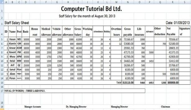 excel sheet formulas with example pdf